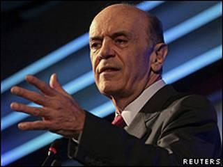 O candidato tucano, José Serra (arquivo)