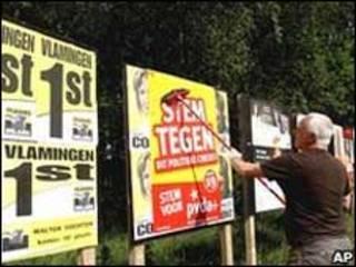 Propaganda política en Bélgica.
