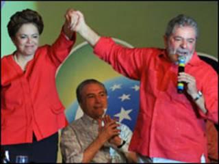 Dilma Rousseff e presidente Lula (Foto Valter Campanato/ABr)