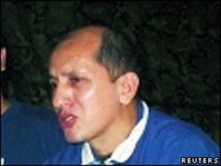 Luis Mendieta en la jungla colombiana (Foto de archivo)