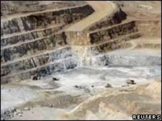 Explotación minera.