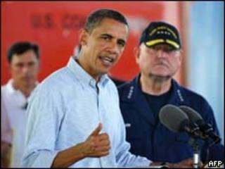 O presidente dos Estados Unidos, Barack Obama, durante um pronunciamento em Theodore, no Estado do Alabama, nesta segunda-feira (AFP)