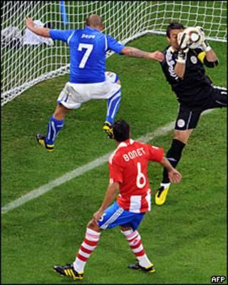 Матч группового этапа ЧМ-2010 по футболу между Италией и Парагваем