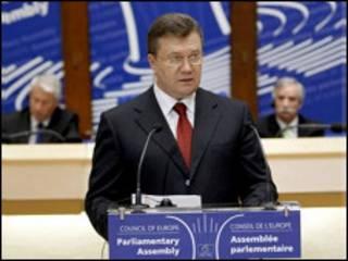 Віктор Янукович у Страсбурзі