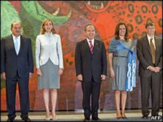Carlos Slim, infanta Cristina, Felipe Calderon, Margarita Zavala, Bill Gates
