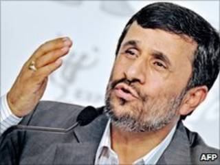 O presidente do Irã, Mahmoud Ahmadinejad, na China