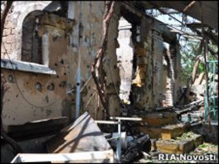 Развалины дома в Дагестане после спецоперации