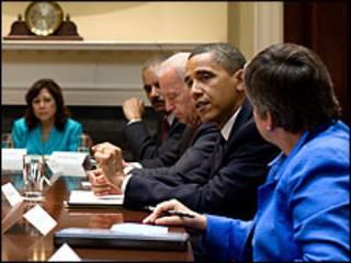 Obama na ganawa da jami'an kamfanin BP