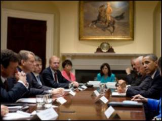 ملاقات مقام های دولت آمریکا و بی پی در کاخ سفید