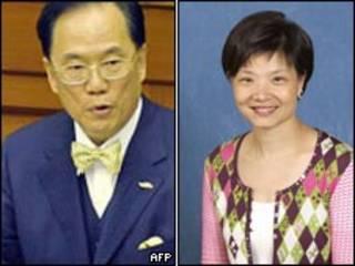 香港特首曾荫权和公民党领袖余若薇