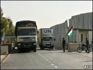 Блокпост на границе сектора Газа