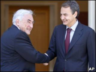 Лидер МВФ и премьер Испании