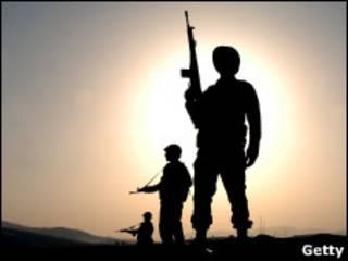Турецкие солдаты на турецко-иракской границе