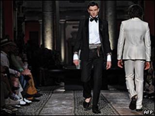 Imagen de la semana de la moda en Milán