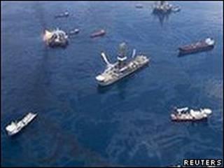 Barcos en el golfo de México