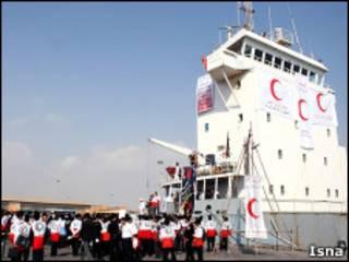 کشتی مورد نظر هلال احمر