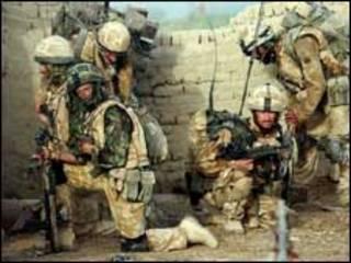 Soldados en operativo en Afganistán