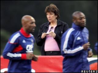 Roselyne Bachelot, ministra de Deportes de Francia