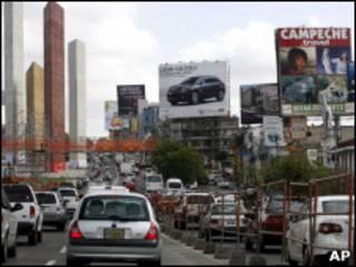 Una calle de México DF