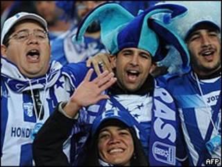 Fans de la selección de Honduras