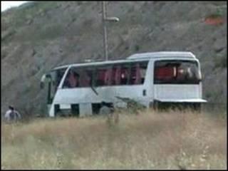 اتوبوس حامل نظامیان