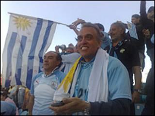 Óscar, hincha uruguayo en Sudáfrica