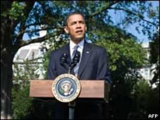 O presidente dos Estados Unidos, Barack Obama, em entrevista coletiva nesta sexta-feira (AFP)