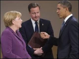 Меркель, Камерон, Обама у Канаді