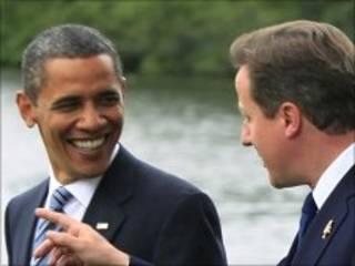 Shugaba Obama da David Cameron a taron G8