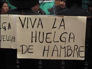 Diputados indígenas bolivianos en huelga de hambre