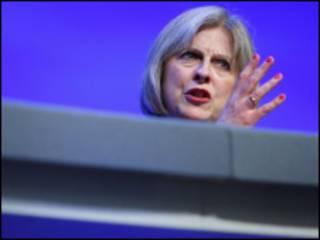 英国内政大臣特雷莎·梅