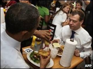 Обама і Медведєв.