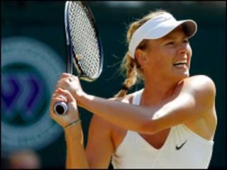 A tenista Maria Sharapova