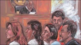 अदालत में पेश जासूसी के अभियुक्त
