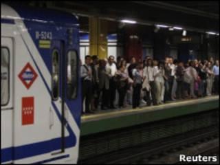 Metro de Madrid el 28/06/2010