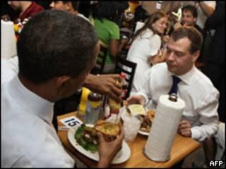 Brack Obama e Dmitry Medvedev