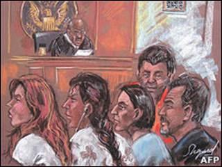 Suspeitos compareceram a cortes federais