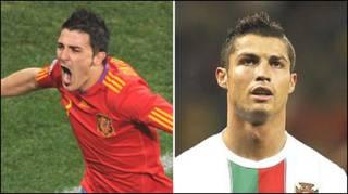 David Villa na Crsitiano Ronaldo