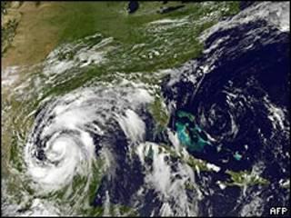Imagen del stélite del huracán Alex