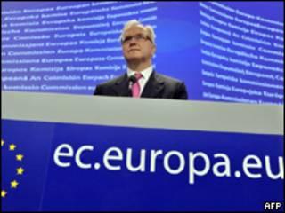 El comisionado de Economía de la UE, Olli Rehn