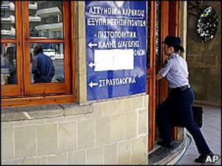 Comisaría de policía en Chipre
