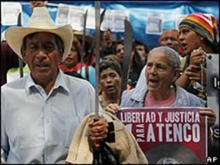 Protesta en Atenco