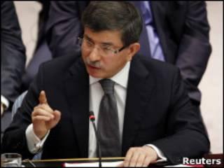 Ahmet Davutoglu, ministro das Relações Exteriores da Turquia