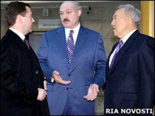 Медвєдєв, Лукашенко, Назарбаєв
