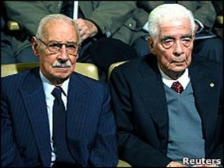 Jorge Rafael Videla y Luciano Benjamín Menéndez