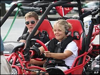 NFB e Virginia Tech fizeram demonstração em 2009 de protótipo de buggy com sistema para motoristas cegos
