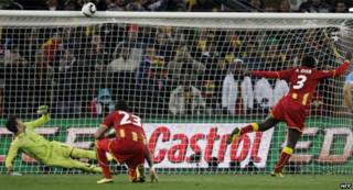 Ghana ta sha kashi ne a hannun Uruguay