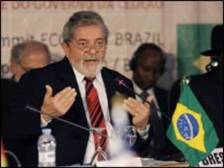 Lula em evento na África