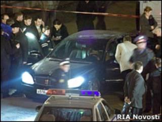 Место убийства Руслана Ямадаева