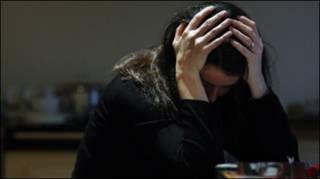 Женщина в состоянии депрессии